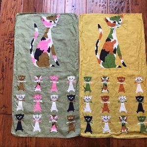 Other - Vintage cat dishcloths